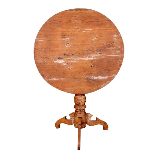 Painted 19th Century Swedish Tilt Top Table For Sale