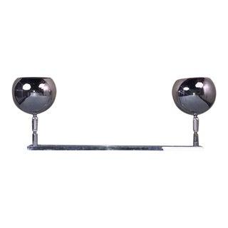 Vintage Robert Sonneman Style Chrome Eyeball Orb Track Light For Sale