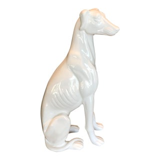 "Vintage Large 18""Ceramic Whippet Greyhound Statue"