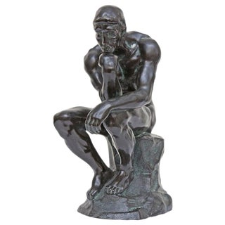 """""""The Thinker"""" Sculpture After Auguste Rodin For Sale"""