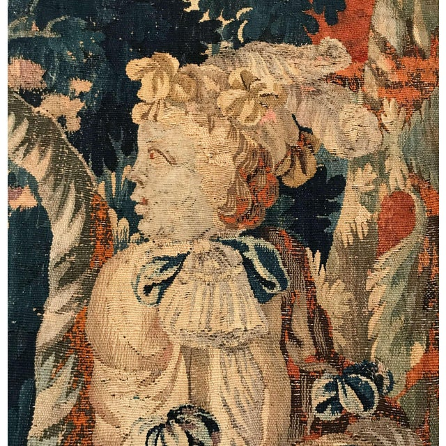 18th Century French Aubusson Tapestry With Cherubs at Play For Sale - Image 10 of 12