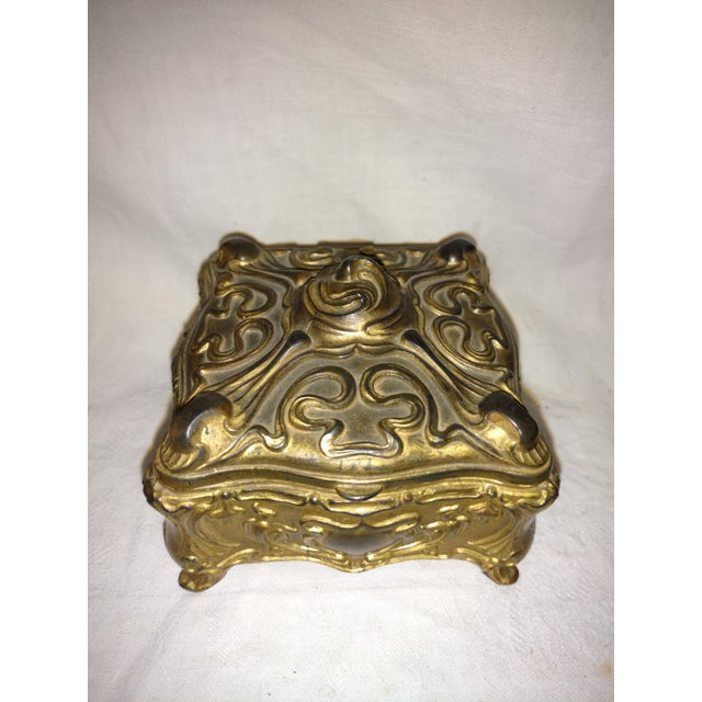 Antique Art Nouveau Jewelry Casket made in the 1890's by Jennings Brothers. The Jennings Brothers Company was located at...