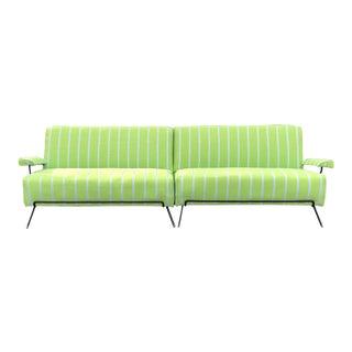 Mid-Century Modern Iron Frame Sofa For Sale