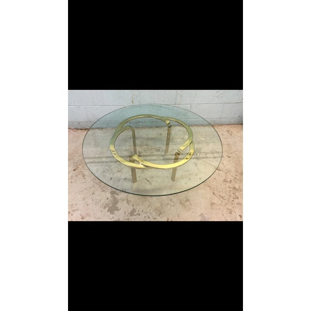 Vintage Brass Ribbon Table - Image 6 of 6