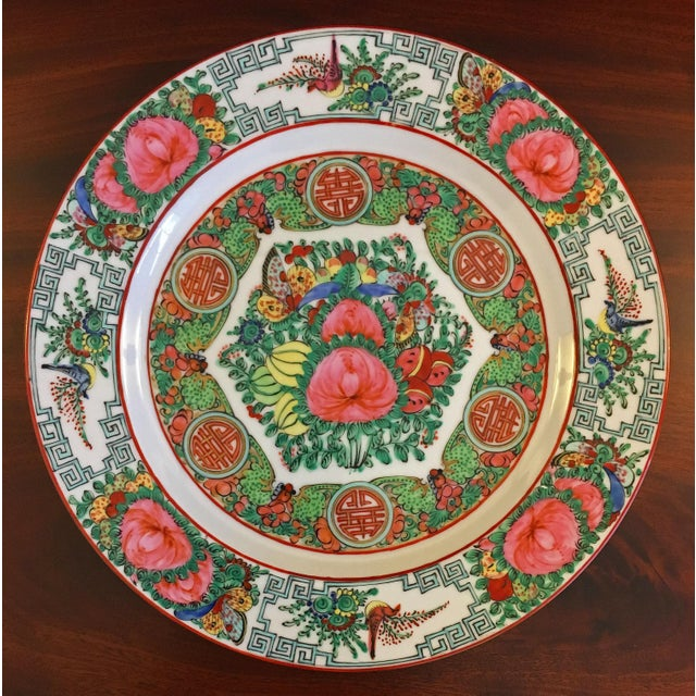 Vintage Famille Rose Medallion Decorative Plates - Set of 3 For Sale In West Palm - Image 6 of 13