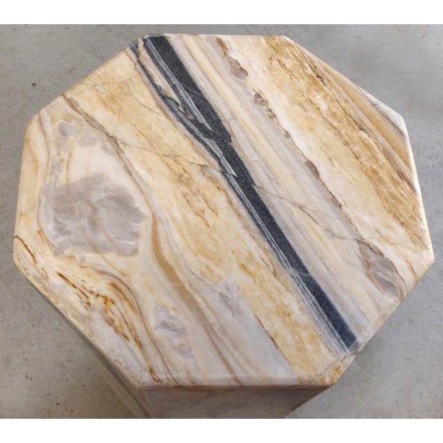 Modern Octagonal Marble Pedestal - Image 3 of 8