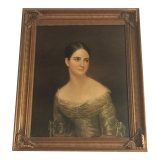 """Vintage Portrait Reproduction """"Miss Pearce"""" by Thomas Sully For Sale"""