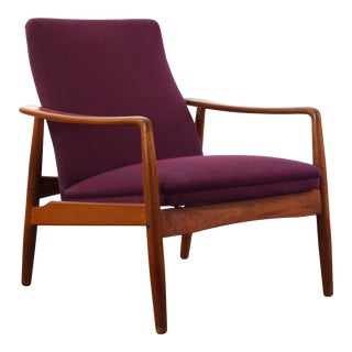 Danish Modern Lounge Chair (Hers) by Soren J. Ladefoged, ca. late 1950s, Denmark For Sale
