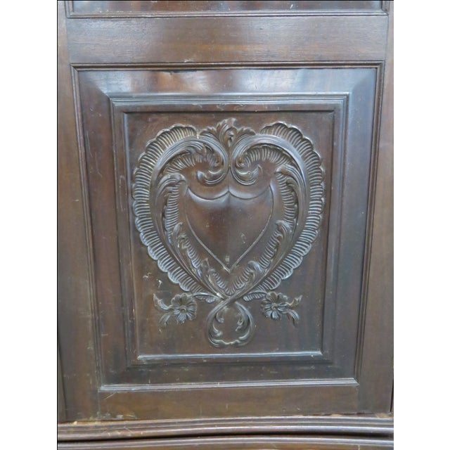 Portugese Carved 2-Door Armoire - Image 6 of 10