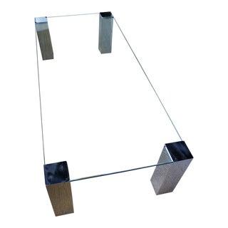 1960s Mid-Century Modern Paul M. Jones Chrome & Glass Coffee Table For Sale