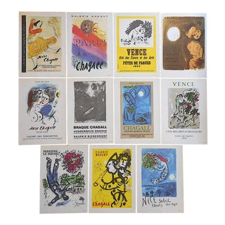 Vintage Mid 20th C.Marc Chagall Lithographs-Folio Size-Set of 11 For Sale
