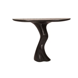 Amorph Haya Wall Mounted Ebony Finished Console Table For Sale