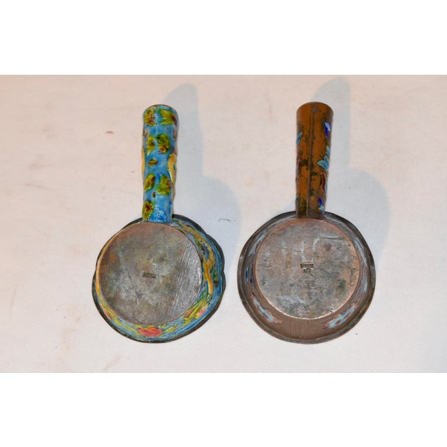 Late 19th Century Pair of 19th Century Chinese Enameled Ladles For Sale - Image 5 of 7