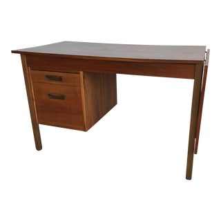 Maurice Villency Mid-Century Danish Walnut Expandable Desk