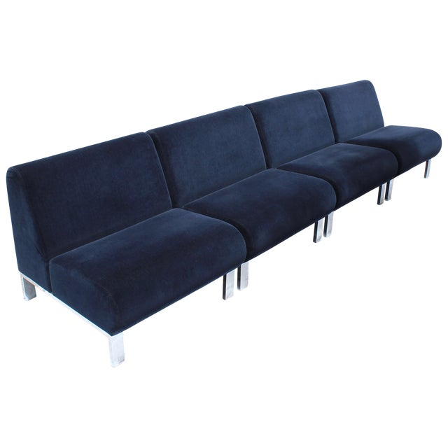 Set of Four Mid-Century Modern Club Chairs For Sale