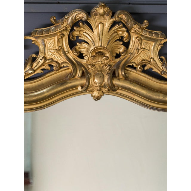 French Antique French Louis Philippe Mirror with a Cartouche circa 1890 For Sale - Image 3 of 10