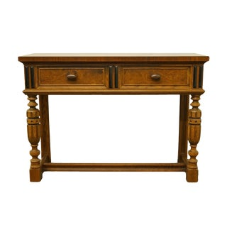 "20th Century Italian Berkey & Gay Inspired Walnut 42"" Entryway Table For Sale"