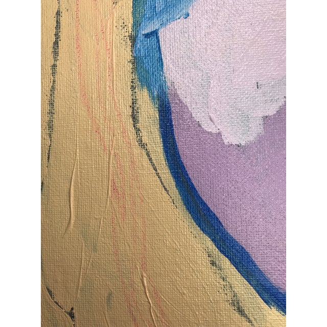 "Contemporary Abstract Portrait Painting ""Special Secrets No. 2"" - Framed For Sale In Detroit - Image 6 of 12"