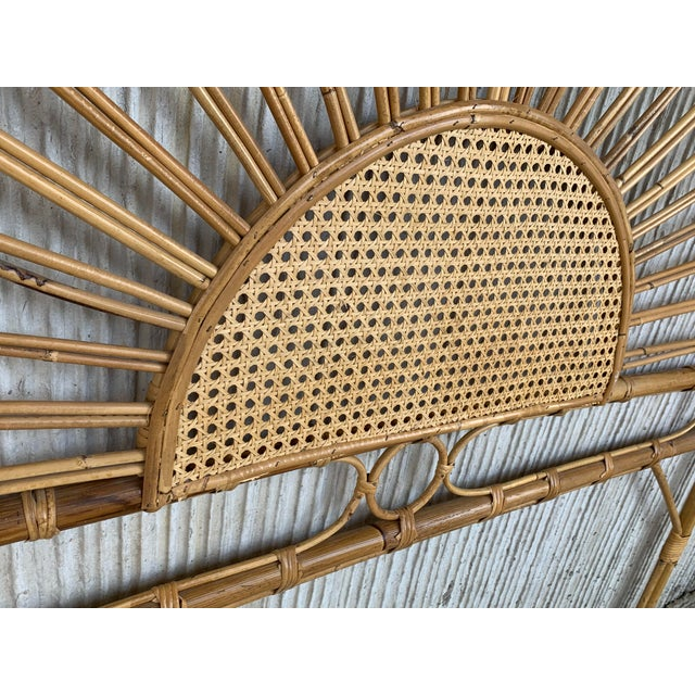 Mid-Century Modern Bamboo and Bentwood Headboard For Sale In Miami - Image 6 of 11
