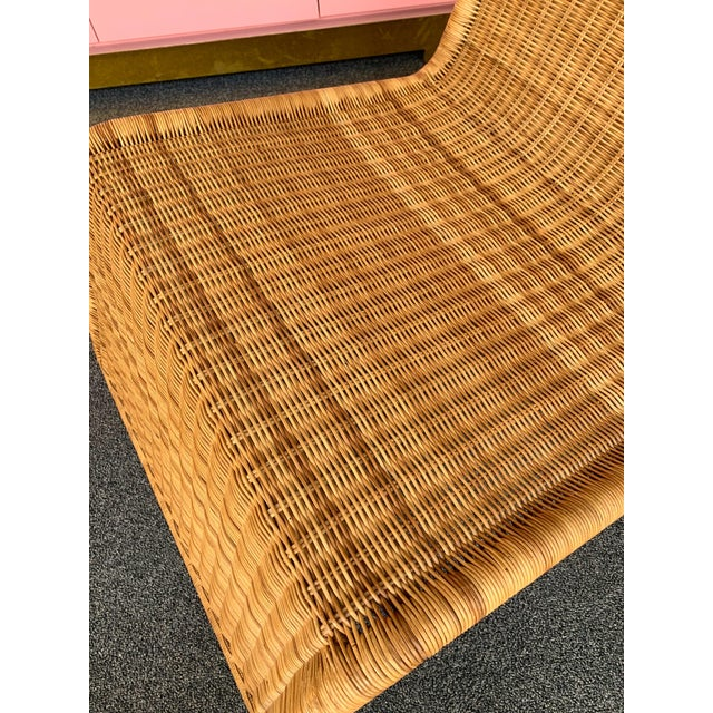 Rattan Pair of Rattan Lounge Chair P3 by Tito Agnoli. Italy, 1960s For Sale - Image 7 of 12
