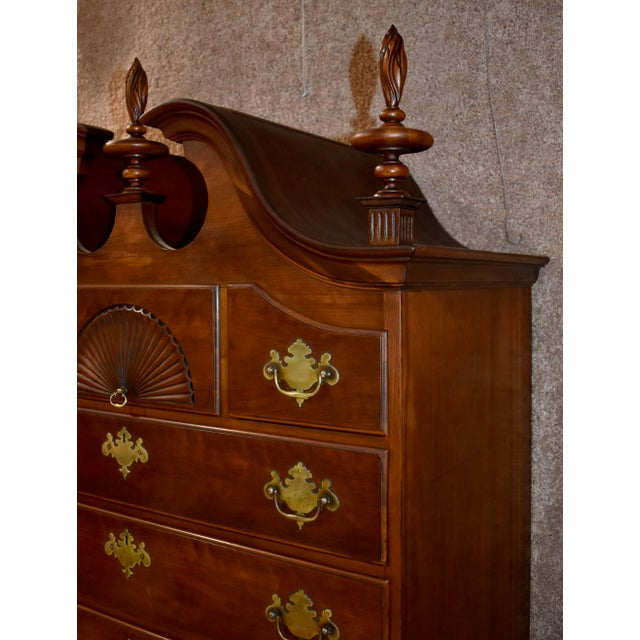 Queen Anne Vintage Kindel Mahogany New England Style Highboy For Sale - Image 3 of 13