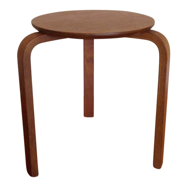Alvar Aalto Style Tripod Accent Table - Image 1 of 4