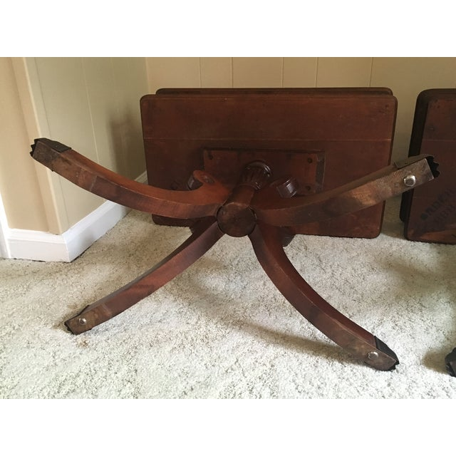 Imperial Federal Style Side Tables - A Pair For Sale - Image 11 of 12