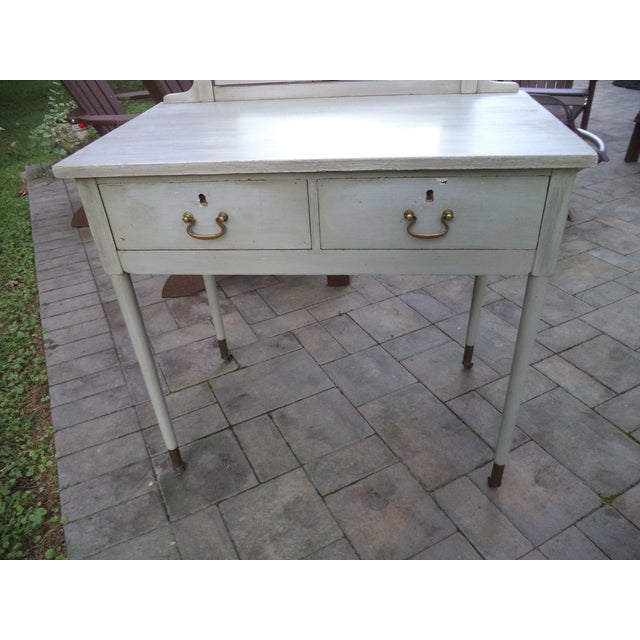 Antique Painted Vanity - Image 4 of 8