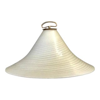70's Murano Milk Glass Pendant Light For Sale