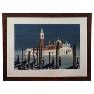 Watercolor on Paper 'Chiesa DI San Maggiore, Venice' Signed Michael Dunlavey For Sale