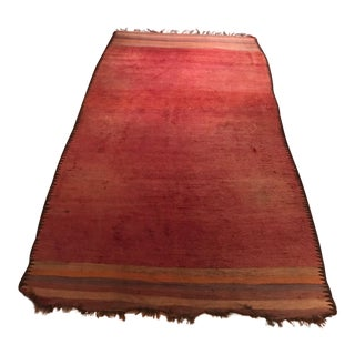 Red Moroccan Rug - 6′3″ × 12′1″