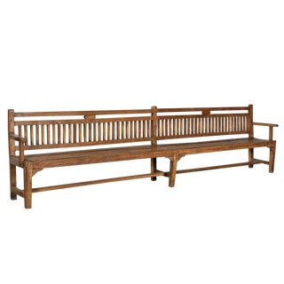 Vintage Long Colonial Bench For Sale