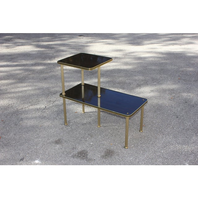 1940s Art Deco Mahogany and Brass Gueridon Side Table For Sale - Image 11 of 13