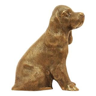 Vintage Brass Cocker Spaniel Dog Figurine For Sale