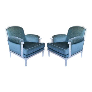 Pair of French 1940s Armchairs, Attributed to Maison Jansen