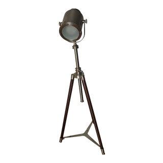 Pottery Barn Photographer's Tripod Floor Lamp For Sale