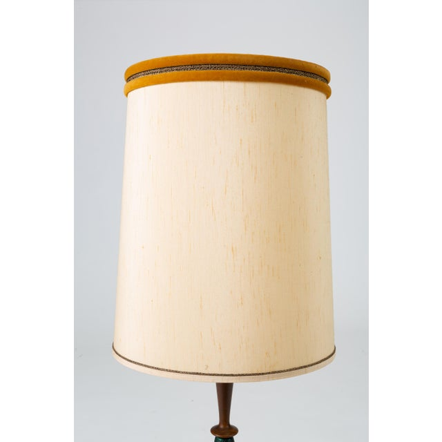Tall Table Lamps in Walnut and Resin by Moderna - a Pair For Sale In Los Angeles - Image 6 of 13