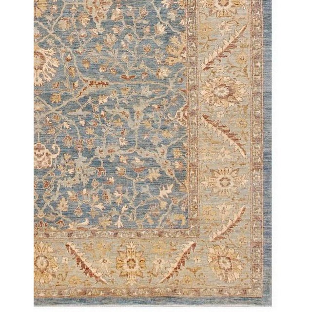 This is a hand-knotted Farahan rug from Pasargad N Y. Hand-Spun Wool Rug It is 100% lamb's wool and comes All natural Dyed...