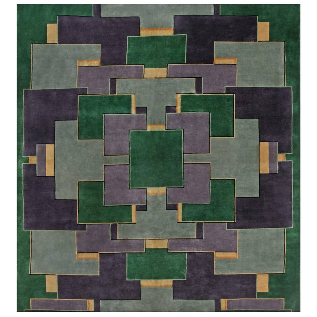 Vintage Chinese Deco Rug For Sale - Image 9 of 9
