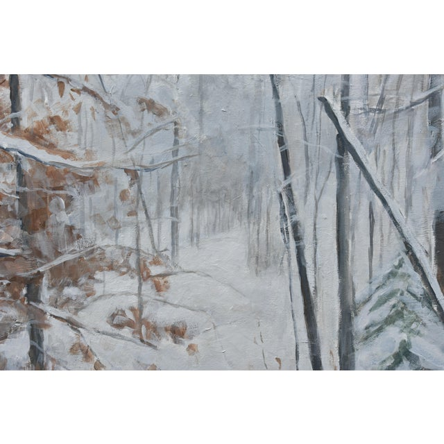 Stephen Remick Stephen Remick Snowy Hillside Contemporary Painting For Sale - Image 4 of 13