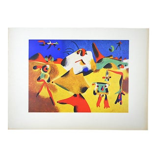 Vintage Mid 20th Century Lithograph-Joan Miro-Folio Size For Sale