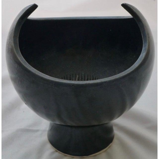 Black Winged Studio Pottery Vase For Sale - Image 10 of 11