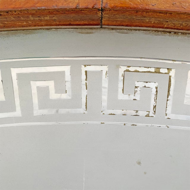 19th Century American Arch Top Greek Key Transom Window For Sale In Chicago - Image 6 of 8