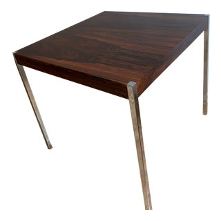 Mid Century Modern Harvey Probber Rosewood Chrome Table
