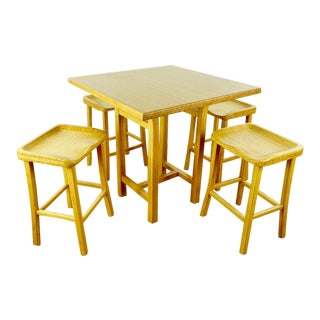 Shabby Chic Bamboo Dining Set - 5 Pieces