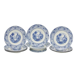Antique Staffordshire Serving Set - Set of 9 For Sale