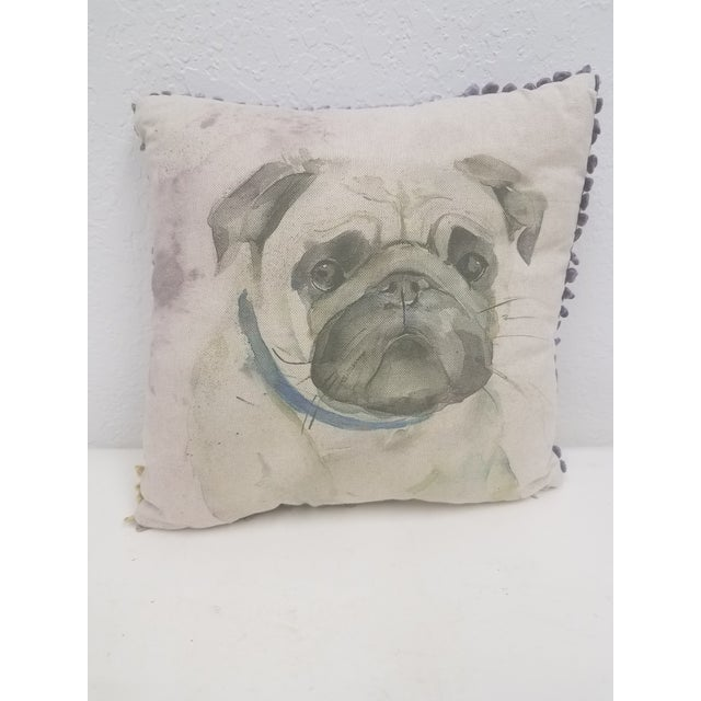 Pug Pillow - Made in Wales, United Kingdom For Sale - Image 9 of 9