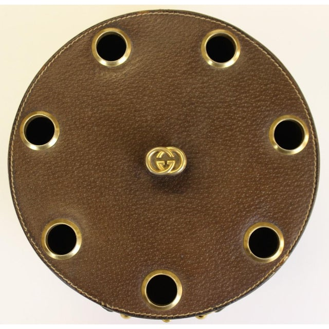 Gucci Leather Pipe Holder With Brass Horsebit - Image 6 of 6