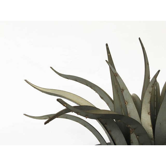 Metal Large Patinated Sculpture of a Plant For Sale - Image 7 of 9