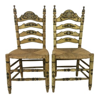 Folk Art Country Chairs - a Pair For Sale